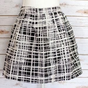 Urban Outfitters Black White Plaid Bubble Skirt, 8